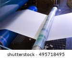paper and pulp mill   factory ... | Shutterstock . vector #495718495