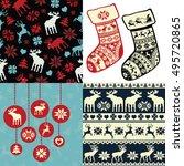 set of christmas background...   Shutterstock .eps vector #495720865
