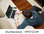 portrait of a man at home... | Shutterstock . vector #49572139