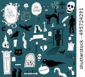 scary symbols | Shutterstock .eps vector #495724291