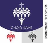 choir christian church. worship ... | Shutterstock .eps vector #495724945