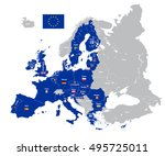european union map with country ... | Shutterstock .eps vector #495725011