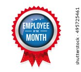 employee of the month badge... | Shutterstock .eps vector #495725461