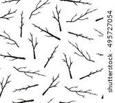 black and white seamless... | Shutterstock .eps vector #495727054