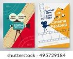 cinema festival poster template ... | Shutterstock .eps vector #495729184