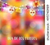 dia de los muertos  day of the... | Shutterstock .eps vector #495740989