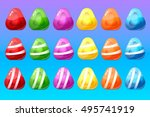 candy items for match 3 game | Shutterstock .eps vector #495741919