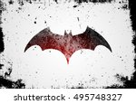bat symbol. bat poster in...   Shutterstock .eps vector #495748327
