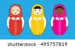 vector illustration of three... | Shutterstock .eps vector #495757819