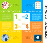business flat infographic... | Shutterstock .eps vector #495757831