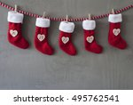 nicholas boots as advent... | Shutterstock . vector #495762541