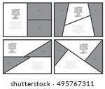 comic paper template. comic... | Shutterstock .eps vector #495767311