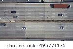aerial view of highway in... | Shutterstock . vector #495771175
