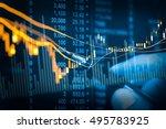 double exposure businessman and ...   Shutterstock . vector #495783925