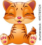 cute cat cartoon isolated on... | Shutterstock .eps vector #495785524