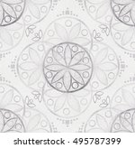 seamless pattern. floral... | Shutterstock . vector #495787399
