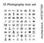 72 photography icon set | Shutterstock .eps vector #495787789