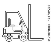 electric loader icon. outline... | Shutterstock .eps vector #495789289