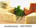 cheese with tomato   pesto and... | Shutterstock . vector #49579093