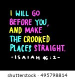 i will go before you  and make... | Shutterstock .eps vector #495798814