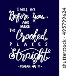 i will go before you  and make... | Shutterstock .eps vector #495799624