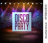 disco abstract background.... | Shutterstock .eps vector #495802855