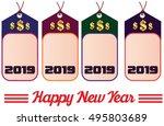 happy new year. 2019 year... | Shutterstock .eps vector #495803689