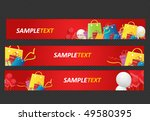 sale and shopping web banners | Shutterstock .eps vector #49580395