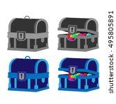 blue black chest vector... | Shutterstock .eps vector #495805891