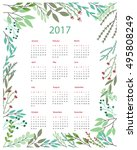calendar templates with cutout... | Shutterstock .eps vector #495808249