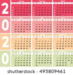 calender 2020 in vector can be... | Shutterstock .eps vector #495809461