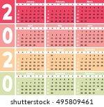 calender 2020 in vector can be... | Shutterstock .eps vector #495809461