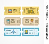 bus  train  airplane tickets...