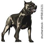 american pit bull terrier ... | Shutterstock .eps vector #495813121