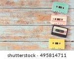 top view  above  shot of retro...   Shutterstock . vector #495814711
