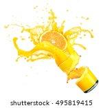 Splashing Orange Juice With...