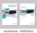 annual report brochure flyer...   Shutterstock .eps vector #495825661