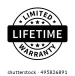 limited lifetime warranty badge ... | Shutterstock .eps vector #495826891