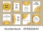 save the date. set of cards... | Shutterstock .eps vector #495830644