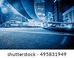 empty asphalt road through... | Shutterstock . vector #495831949