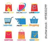 shopping logo | Shutterstock .eps vector #495833299