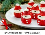 christmas party ideas for kids  ... | Shutterstock . vector #495838684