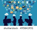technology business... | Shutterstock .eps vector #495841951