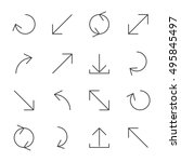 set of arrows and pointers of...
