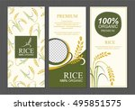 rice thailand food product... | Shutterstock .eps vector #495851575
