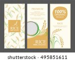 rice thailand food product... | Shutterstock .eps vector #495851611