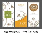 rice thailand food product... | Shutterstock .eps vector #495851635
