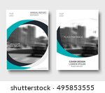 creative annual report cover ... | Shutterstock .eps vector #495853555