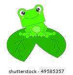 green smily frog | Shutterstock . vector #49585357