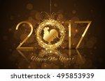 vector 2017 happy new year... | Shutterstock .eps vector #495853939